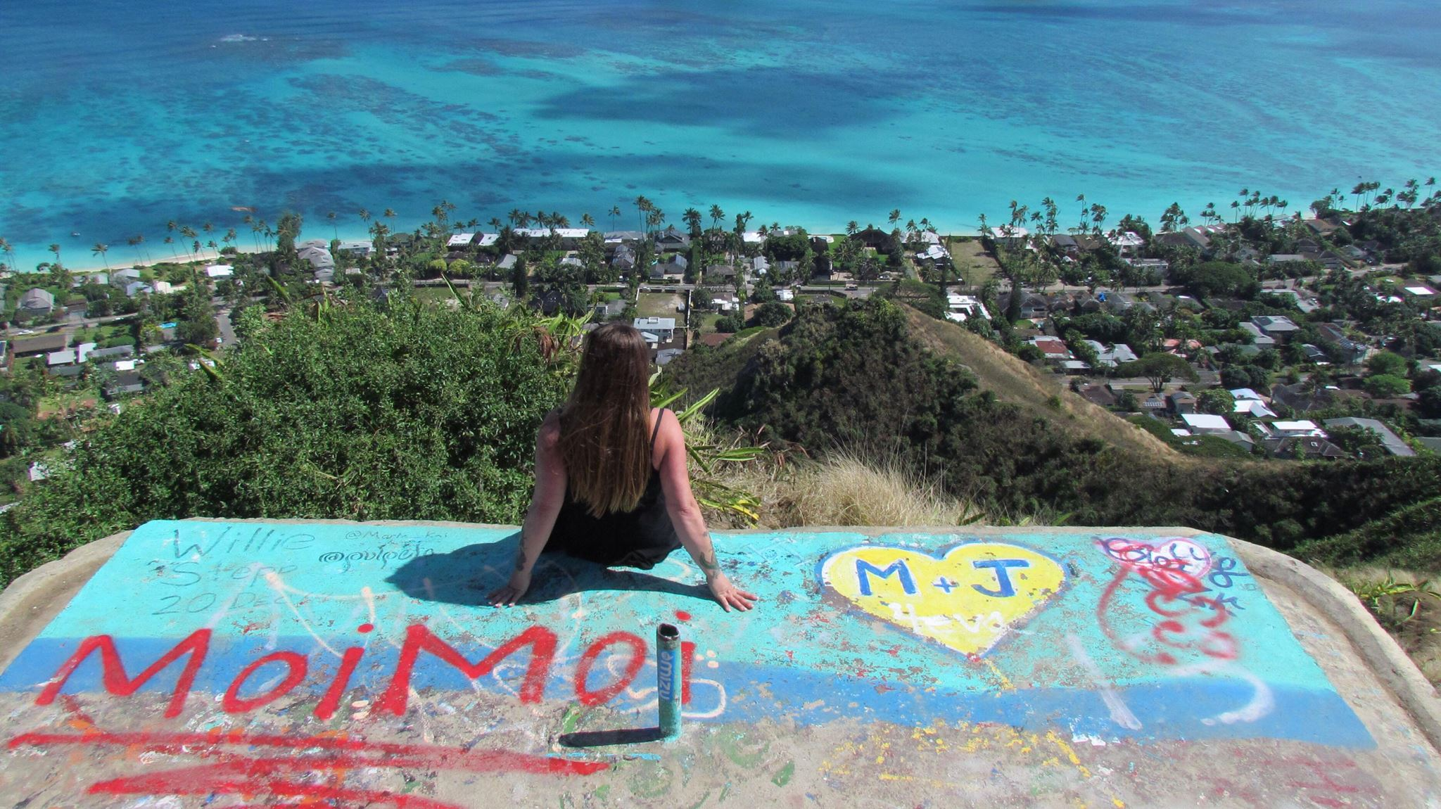 Surfer girl around the world